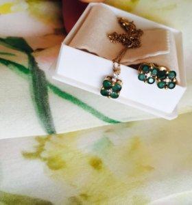 Комплект из золота с изумрудами или бриллиантами!