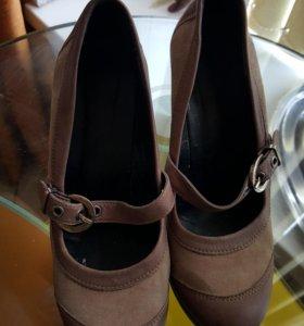 Новые туфли , натуральная кожа, замша