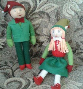 Куклы эльфы 30 см