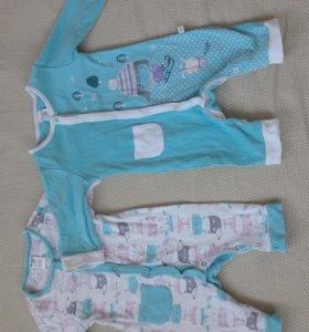 Пакет одежды на девочку от 0 до 6-8 мес