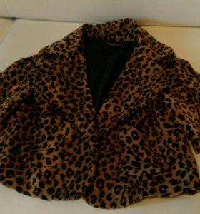Леопардовый пиджак Mango