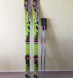 Горные лыжи Rossignol 4 Cross с палками