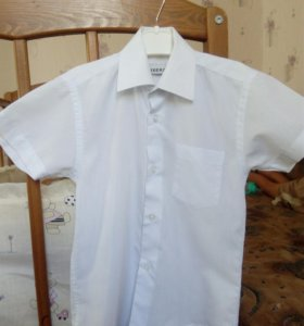 Белая рубашка (сорочка) на мальчика рост 122