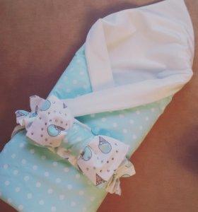 Одеяла конверты на выписку, в кроватку