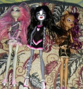 Куклы монстер хай,все оригинальные.