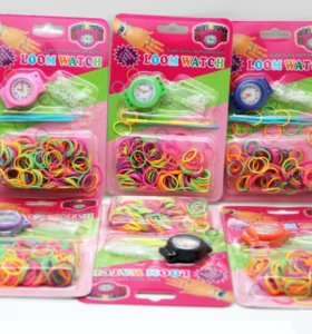 Часики с резиночками для плетения