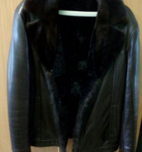 Куртка зимняя кожаная