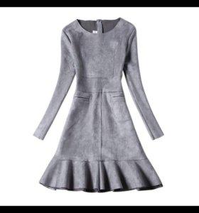 Новые платья замша