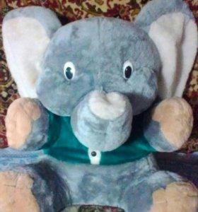 Большая мягкая игрушка Слон.