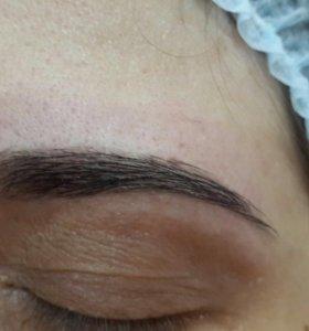 Окрашивание ресниц и оформление бровей