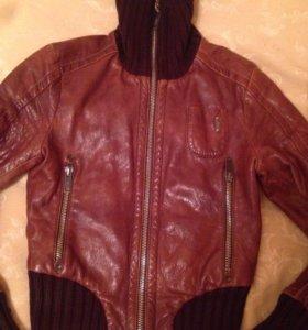 Куртка кожа Италия