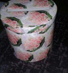 Свадебная коробочка для денег и открыток (сундук)
