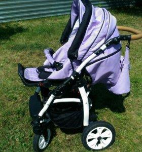 Детская коляска carrera лиловая