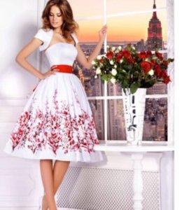 Выпускное коктельное платье+балеро