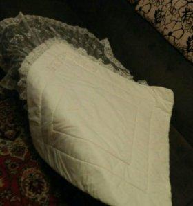 Нарядное одеяло на выписку