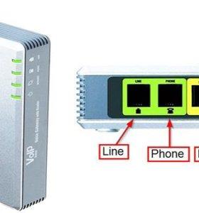 Шлюз VoIP Linksys SPA3102 (1 порт FXS, 1 порт FXO)