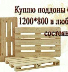 КУПЛЮЮ ПОДДОНЫ И ЕВРОПОДДОНЫ Б/У