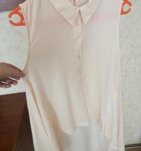 Блуза, сзади удлиненно