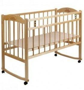 Новая Кровать детская на колесах и качалке