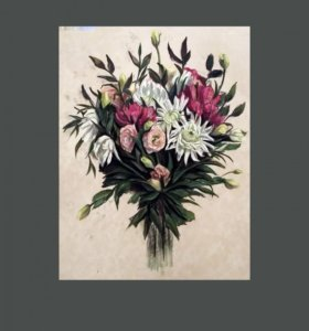 """Картина пастелью """"Букет цветов"""""""