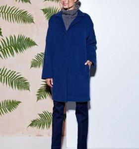 Пальто темно синий