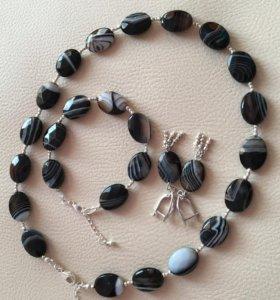 Комплект  Мелодии камня- агат