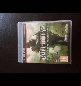 Диск Call of duty 4 на консул PS3