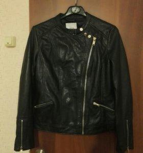 Куртка женская кожаная MANGO