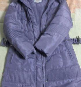 Зимнее пальто для девочки б/у