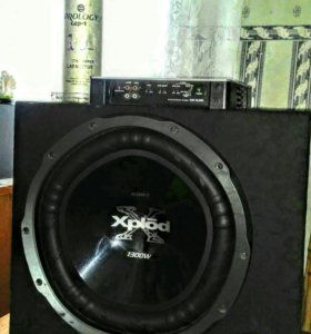 Сабвуфер Sony Xplod 1300w+усилитель+накопитель