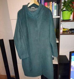 Пальто цвет изумруд