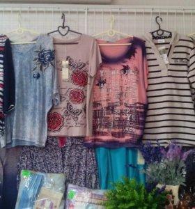 Женские футболки, блуски цены разные пишите спр