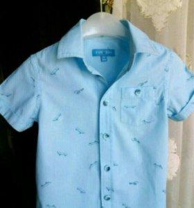 Рубашка на мальчика 4г...рост104.хлопок