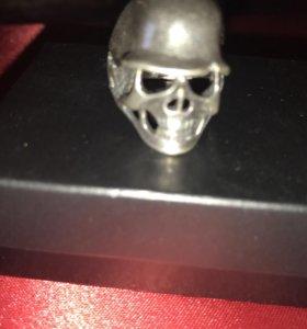 Перстень череп 💀 в каске р20