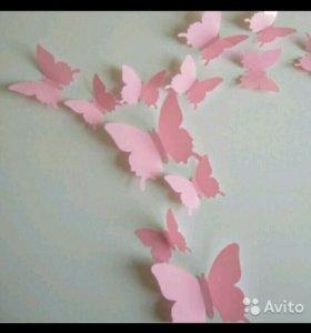 3D наклейки бабочки