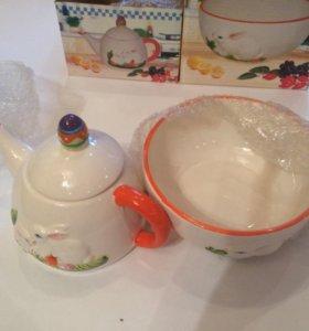 Чайник и салатник