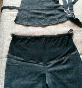 Джинсы-брюки для беременной