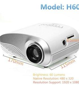 Mini LED проектор H60 с ТВ тюнером