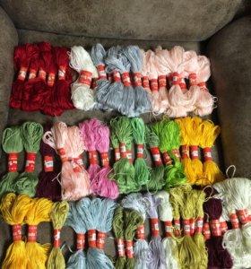 Мулине пакетом для вышивки и творчества/нитки/пряж
