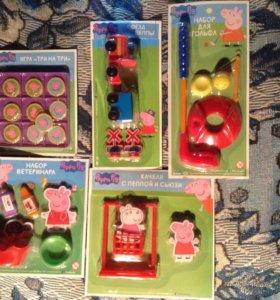 Наборы игрушек свинка Пеппа