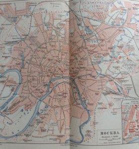 Карта Москвы 1902