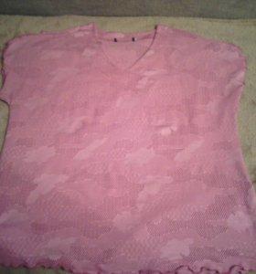 52-54 вязанная летняя кофточка.