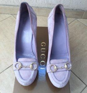 Замшевые туфли Gucci, оригинал