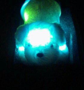 Забавная красочная светодиодная мягкая игрушка