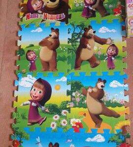 Коврик-пазл Маша и Медведь 8 элементов