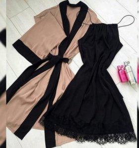 Комплект халатик+сорочка или +шортики и топ