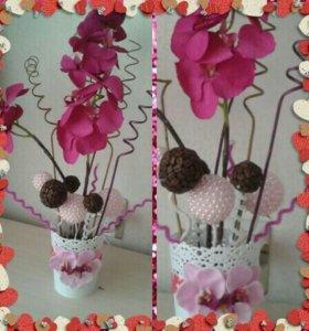 Орхидея- фаленопсис интерьерная композиция