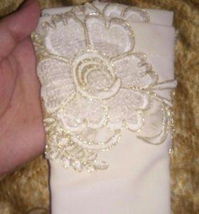 Перчатки (минетки) свадебные новые