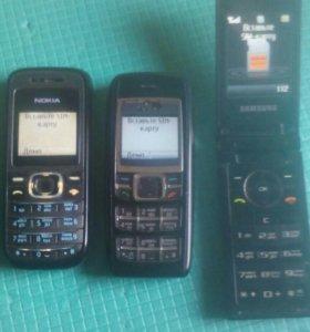 Телефоны Nokia и Samsung