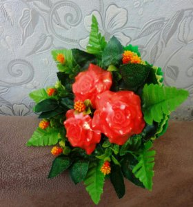 Цветы из мыла ручной работы